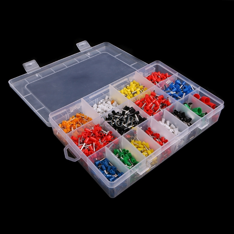 Insulated Cord Pin End Terminal Bootlace Ferrules Kit Set Wire Copper 2120PCS/SET M05 800pcs cable bootlace copper ferrules kit set wire electrical crimp connector insulated cord pin end terminal hand repair kit