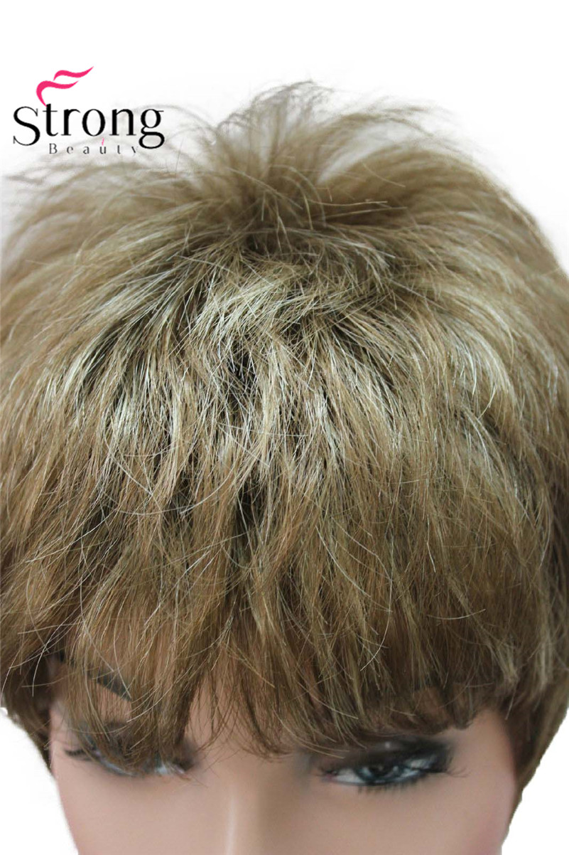 E-1777 Fashion Women`s Wigs Blonde & Light Brown Mix Short Synthetic Full Wig (5)