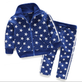 2016 autumn children's clothing boys sets stars long sleeve boy sets for boys kids causal suits coat and  pants outfits