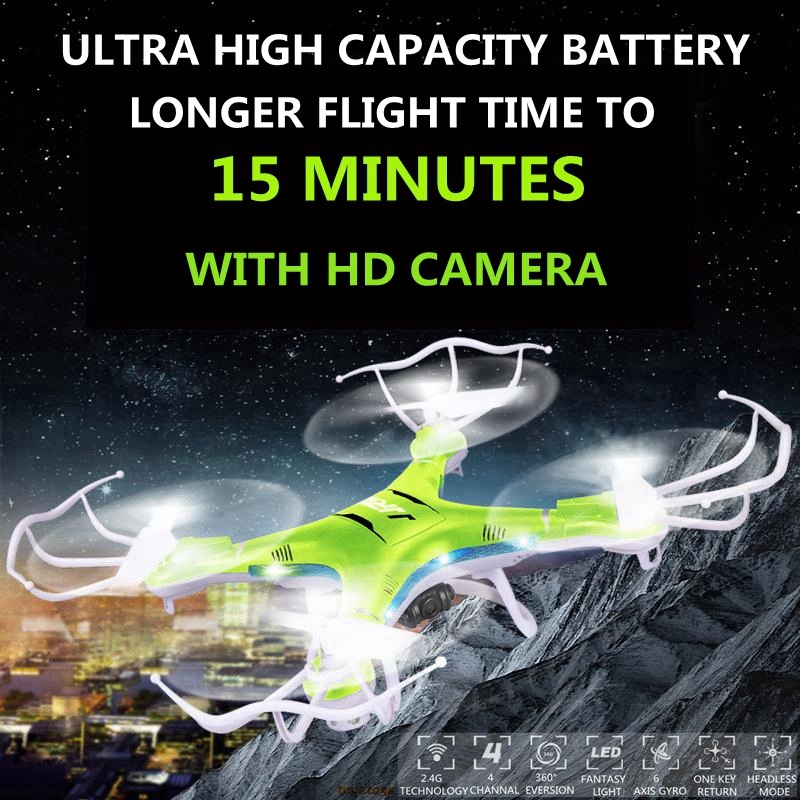 Drones With Camera Hd 1100mah Battery Hexacopter Professional Drones RTF Dron Remote Control Quadcopter Flying Helicopter Camera rc drones remote control hexacopter professional dron quadcopter original mjx x600 flying 6 axis helicopter copter vs syma x6sw