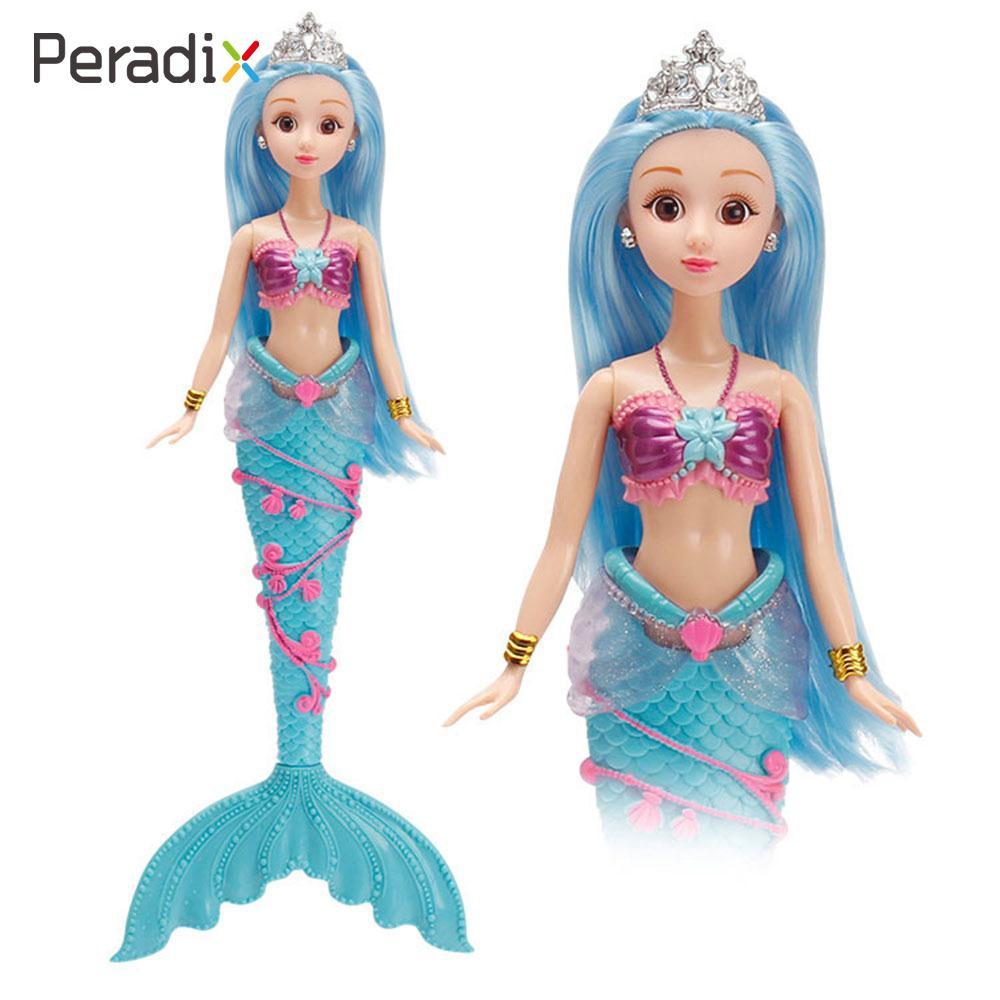 36cm Fashion Princess Mermaid Doll Classic About High Dolls Toy For Girl Birthday Xmas Gifts Water spray doll Random Color