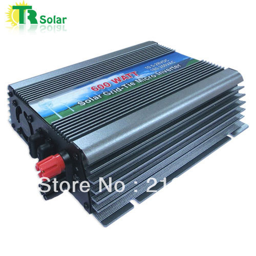 600W Gird Tie Pure Sine Wave Micro Solar Inverter Matched with the 12-18V solar panel for Home Using Free Shipping