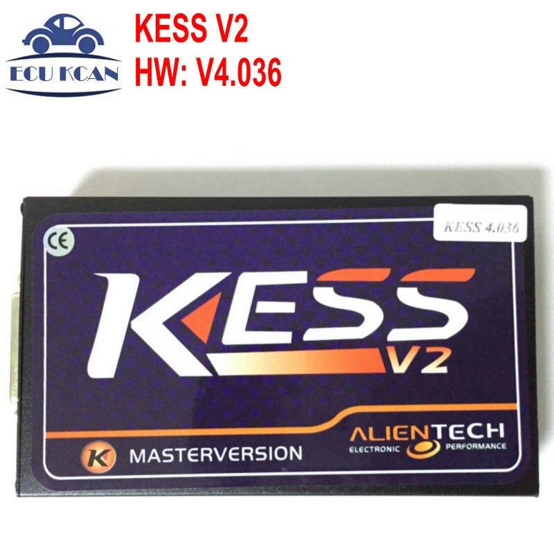 Цена за Новая Прошивка V4.036 KESS V2.30 Основной Блок ECU Чип-Тюнинг KESS V2 OBD2 Тюнинг KESS V2 Мастер Маркер Не Ограничено комплект