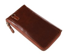 8040B J.M.D Classic Brown Vintage Leather Wallet Men's Clutch Bag Wallet you deserve own
