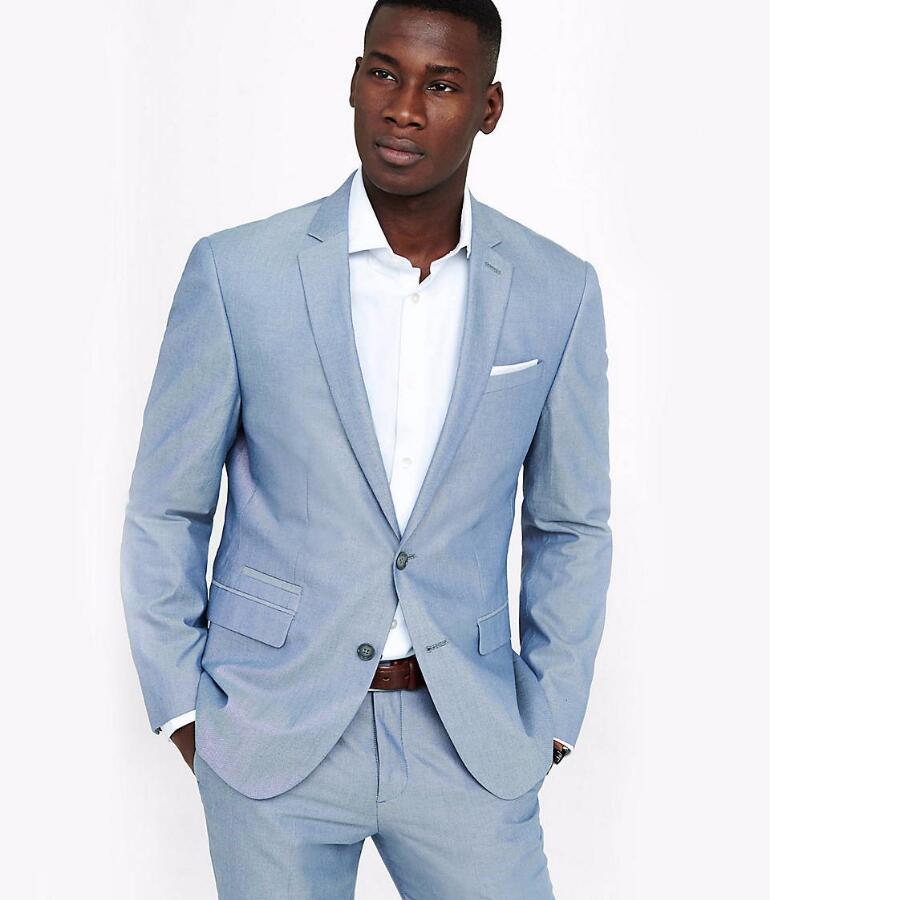 casual light blue man suit slim fit wedding suit for men. Black Bedroom Furniture Sets. Home Design Ideas