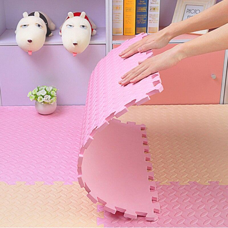JCC mélange feuille motif Puzzle EVA mousse bébé tapis de jeu/enfants tapis de verrouillage exercice plancher pour enfants carreaux 60*60*1.2 cm - 2