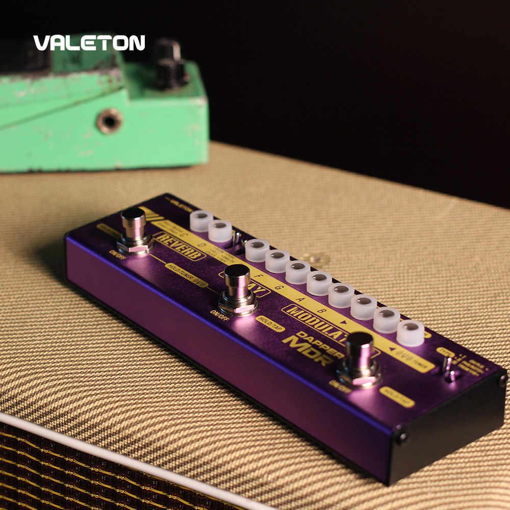 دواسة جيتار متعددة المؤثرات من Valeton طراز Dapper MDR من فيديو تأخير جوقة فيزر فيبراتو تريمولو فلانجر شريط تناظري رقمي تأخير