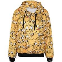 Adventure Time Sweatshirts Fashion Long sleeve with hat men Women Finn Jake street Hoodies Cartoon Hoody Hooded Pullover Coat