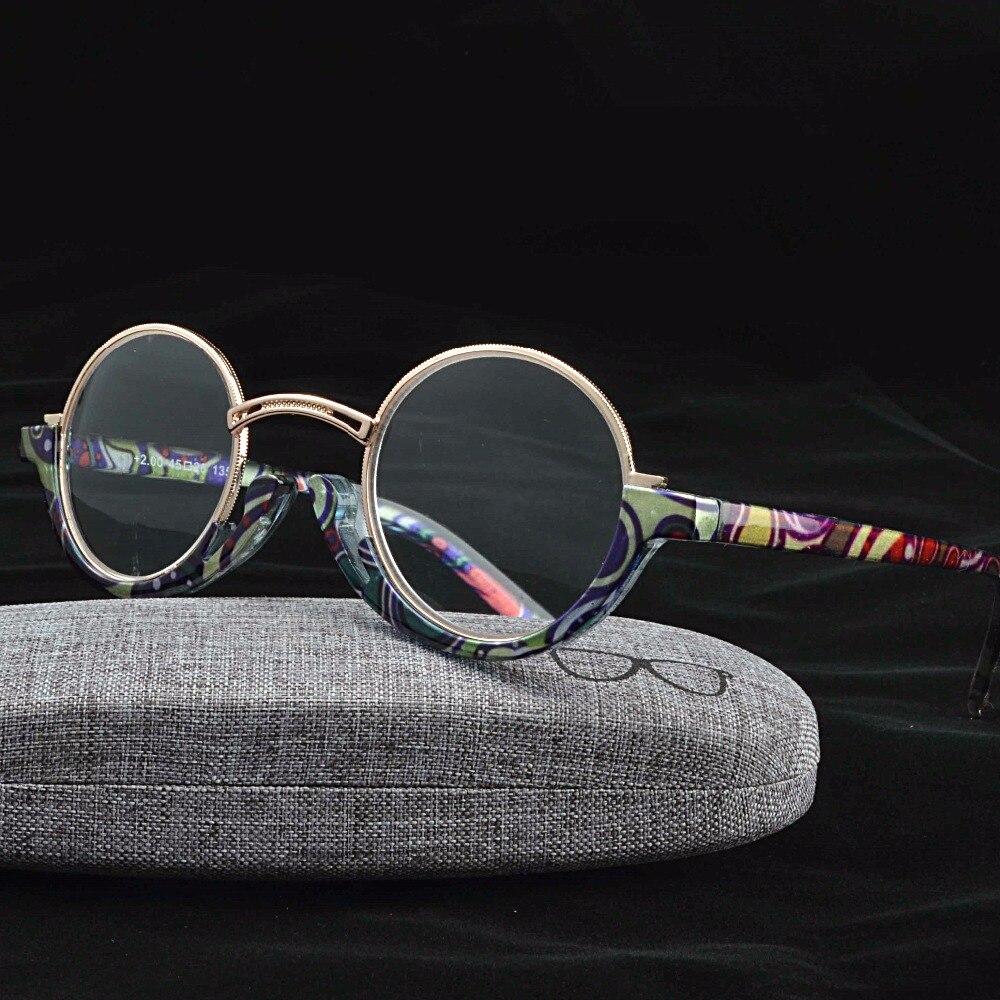 0906a88cf7f Mincl  2018 Hot Sale Fashion Unique Titanium Alloy Round Half--Frame Circle  Eyeglass Reading Glasses +1.0~+4.0-gyw