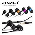 Universal 3.5mm auriculares awei es q3 estilo de cancelación de ruido en la oreja los auriculares para el teléfono mp3/mp4
