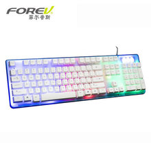 100% Authentic FOREV FV-Q3A Colourful Waterproof Backlight Pc Gaming Keyboard Teclado USB Powered For Desktop Laptop computer 104 key