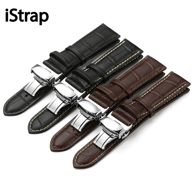 12 13 14 15mm 16mm 18mm 19mm 20mm 21mm 22mm 24mm Soft Genuine Leather Alligator Grain Watch Band Strap Calf Watchband for Tissot
