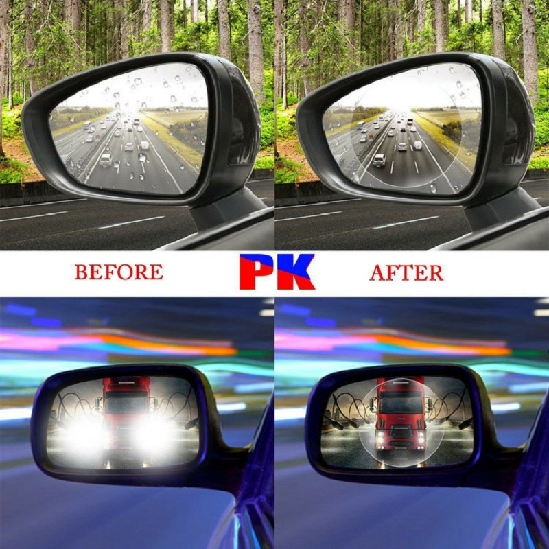 Film Stickers Rearview-Mirror Window Anti-Fog Mercedes BMW For Waterproof 2pcs/Suit