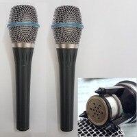 2 חתיכות 87A הקבל Supercardioid מיקרופון ווקאלי הקבל מיקרופון כף יד מקצועי חוט microfono משלוח shippping-במיקרופונים מתוך מוצרי אלקטרוניקה לצרכנים באתר