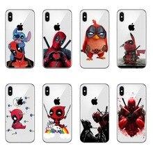 Super Cool Marvel Deadpool Hero Soft silicone Phone Case Cover For iphone 8 8Plus 7 7Plus 6 6S 6Plus 5 5S SE