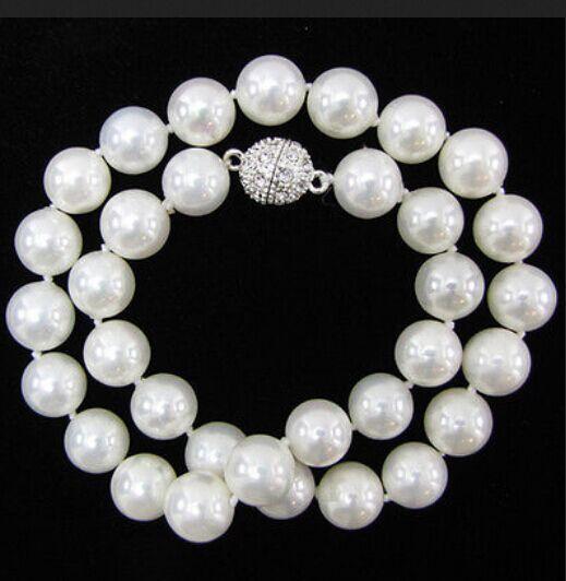 AAA 10 мм подлинное белое Южное море Жемчужное ожерелье 18''|necklace a|pearl necklaceshell pearl |