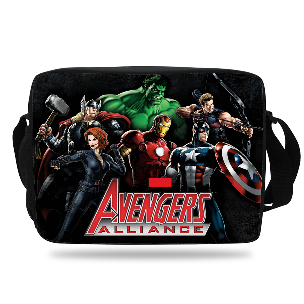 0e0ad29494 The Avengers Messenger bag for kids schoolbag Captain America shoulder bag  Teenagers boys girls shoulder messenger
