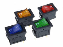 KCD1 On-Off 3Pin Boat Car Rocker Switch 6A/10A 250 V/125 V AC rojo amarillo verde azul botón mejor precio(China)