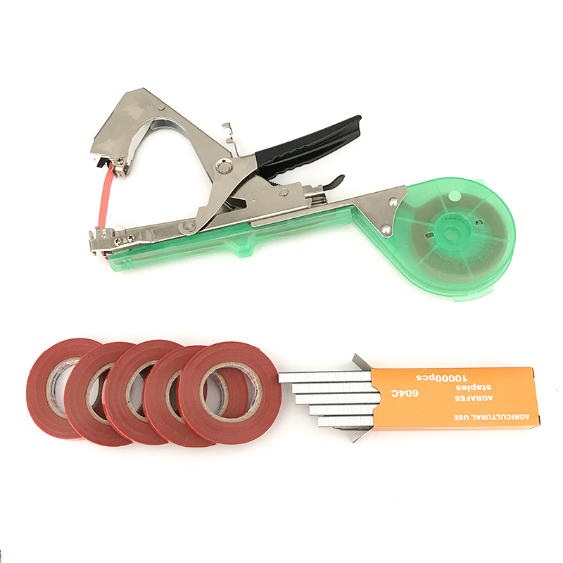 Garden tool plant tying tapetool tapener machine branch for Gardening tools used in planting