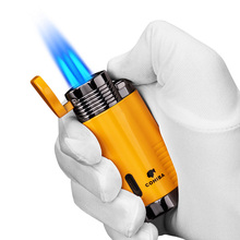 COHIBA Cigar lighter portable windproof straight small spray gun inflatable gift box CB-0803