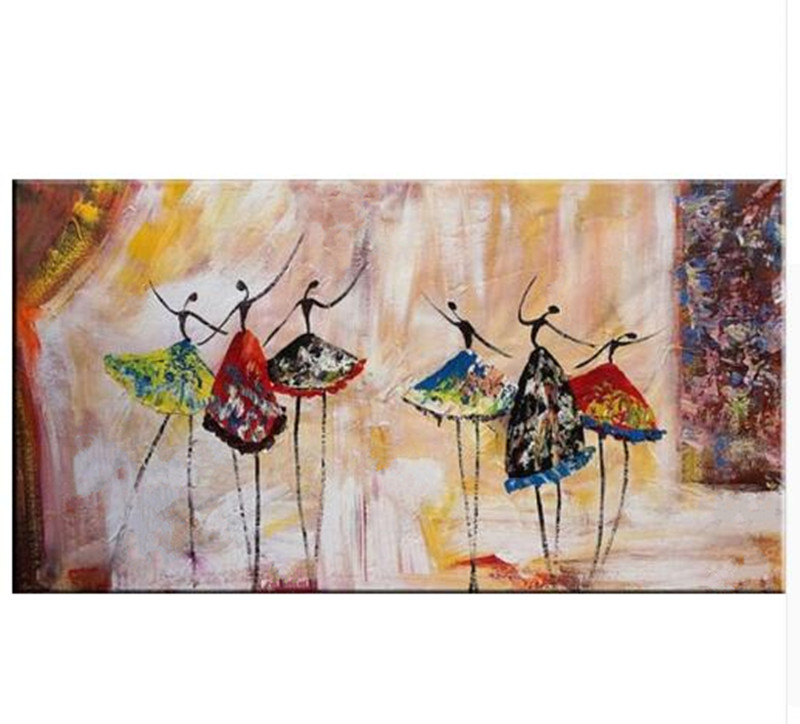 Large Abstract Ballet Dancers Painting Home Decor Wall Art Pictures Handpainted Figure Oil Paintings on Canvas for Living RoomLarge Abstract Ballet Dancers Painting Home Decor Wall Art Pictures Handpainted Figure Oil Paintings on Canvas for Living Room