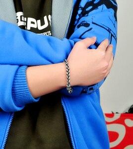 Image 3 - Nieuwe Mode Retro Mannen Shitai Zilveren Armband Koreaanse Mannelijke Modellen 100% 925 Sterling Zilveren Armband Grof 7 Mm20cm Thai Zilver