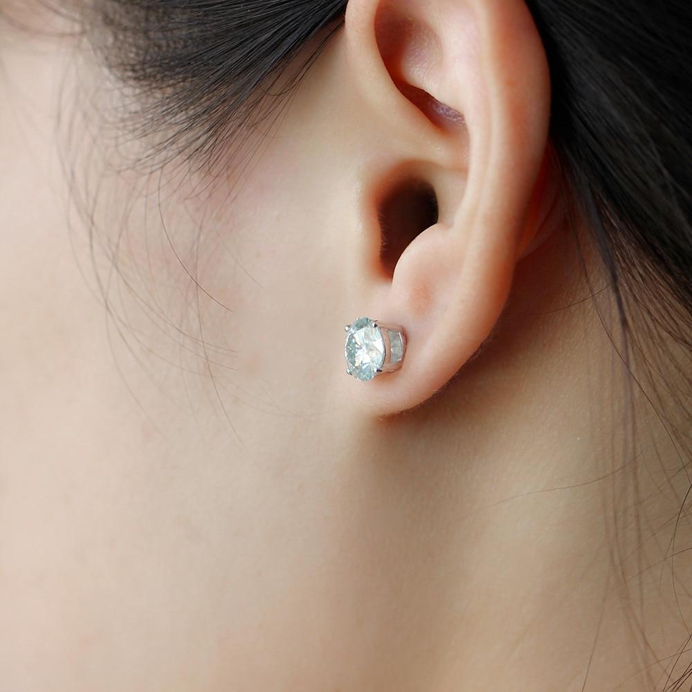 blue moissanite stud earring E-44-8 (4)