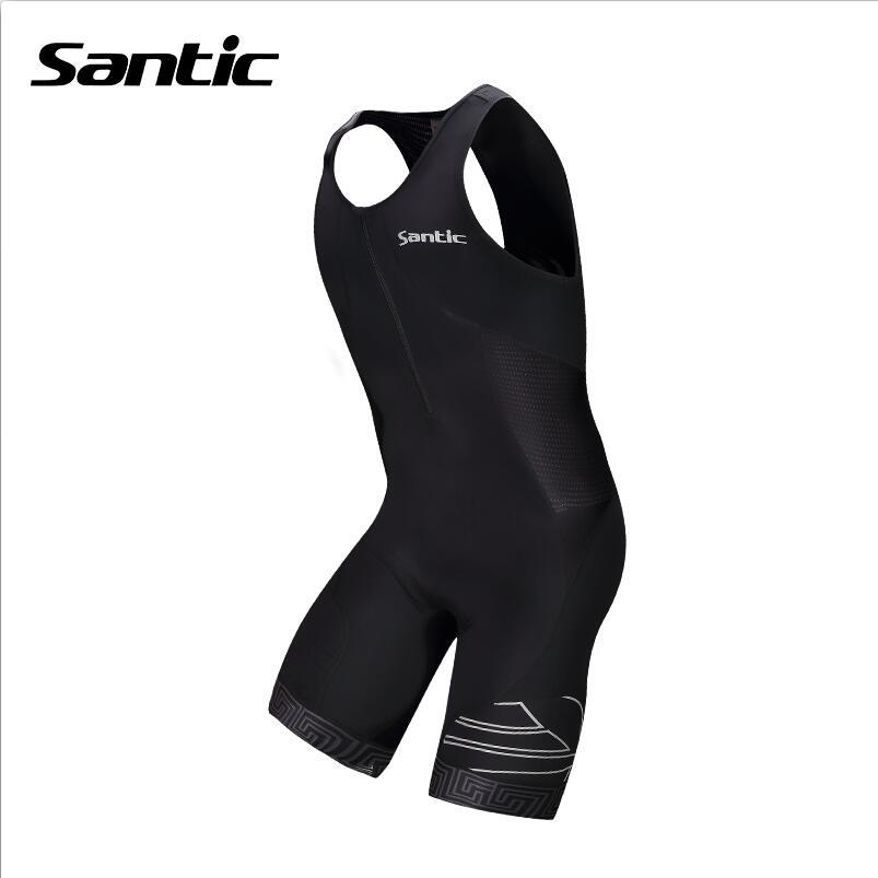 ФОТО Santic Cycling Jersey Triathlon Mens 4D Pad Quick Dry Sleeveless Cycling Triathlon Bicycle Jersey Cycling Clothing Ciclismo