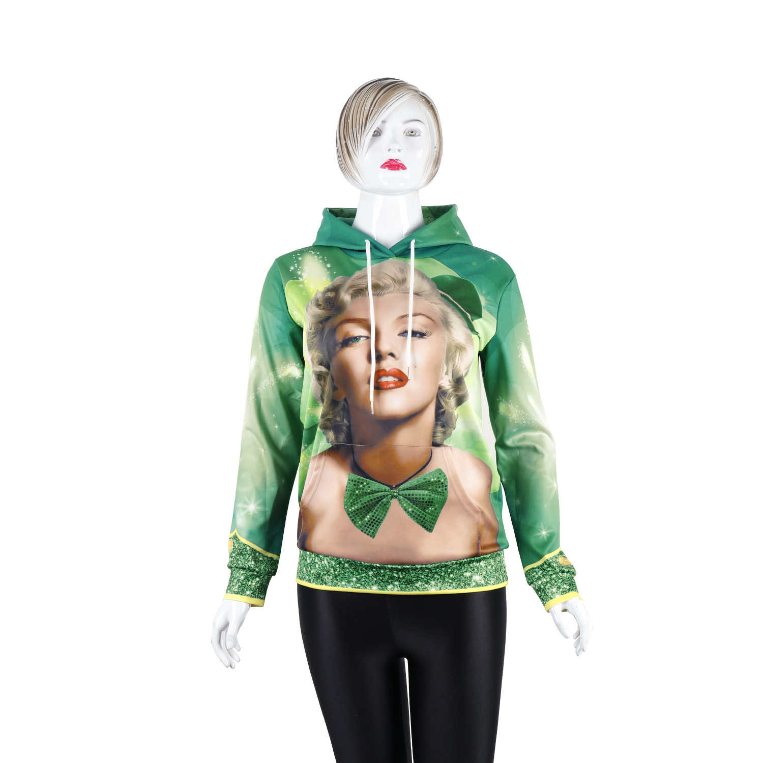 Rave festival clothing fashion street hipster single piece loose large size hooded Hoodie