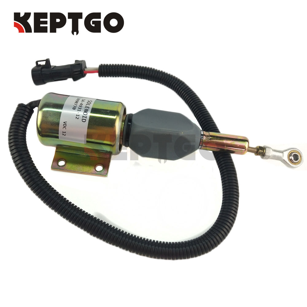 New SA 4931 12 Shutdown Shut Off Stop Solenoid 3990770 12V Fit for Cummins Diesel