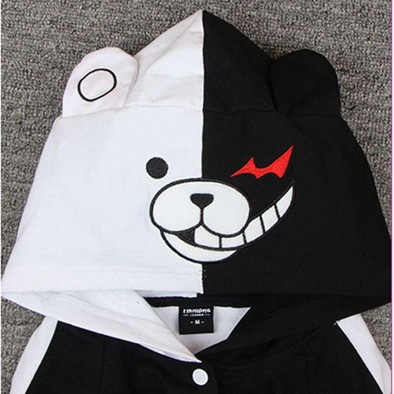 Image 5 - Adult Thick Cotton Anime Danganronpa Monokuma  Hooded Hoodie Jacket Costumes Cosplay For Woman Man Plus Size-in Anime Costumes from Novelty & Special Use