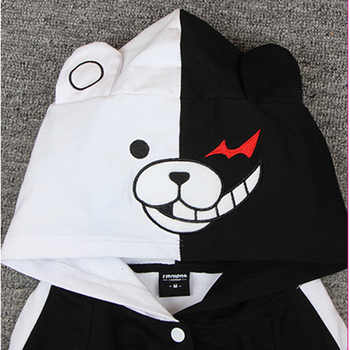 Adult Thick Cotton Anime Danganronpa Monokuma Hooded Hoodie Jacket Costumes Cosplay For Woman Man Plus Size