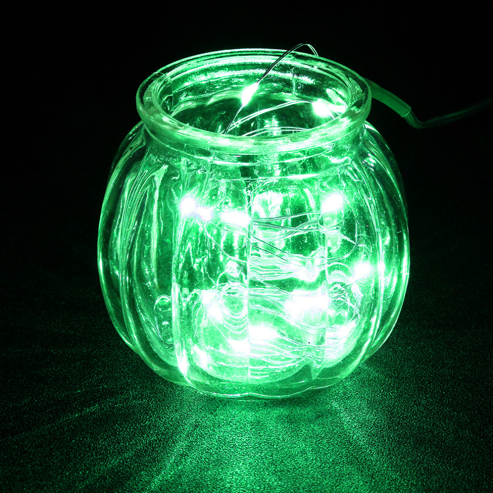 High Efficient 10M 100 LED 3AA Battery Silver Wire String Light Fairy Lamp Festival Part ...