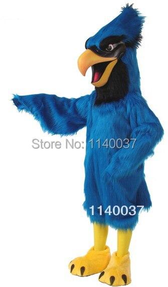 Маскоты длинные волосы синий Jay Маскоты костюм Делюкс плюшевые Маскоты te костюм партии Карнавал Cosply Костюмы