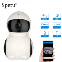 Spetu Mini WiFi Panoramic IP Camera HD 1080P 180 Degree Fish Eye 360 Degree Full View Wireless Robot IP IR Camera Two way Audio