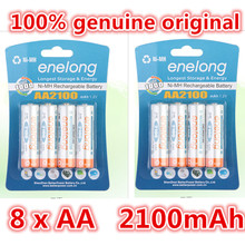 8pcs 100% genuine original enelong 2100mAh NiMH AA rechargeable batteries, high-quality toys, cameras, flashlights and battery