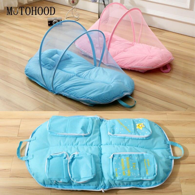 MOTOHOOD bébé berceau tente filet de sécurité berceau filet couverture-pliable bébé lit moustiquaire tente enfants pépinière bébé accessoires