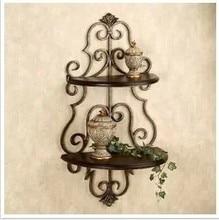Double diaphragm, wrought iron shelf hook hanging rack bathroom kitchen shelves