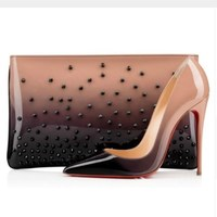 2018 luxury brand   shoes   women red bottom high heels Classic woman pumps Plus Size 35-42