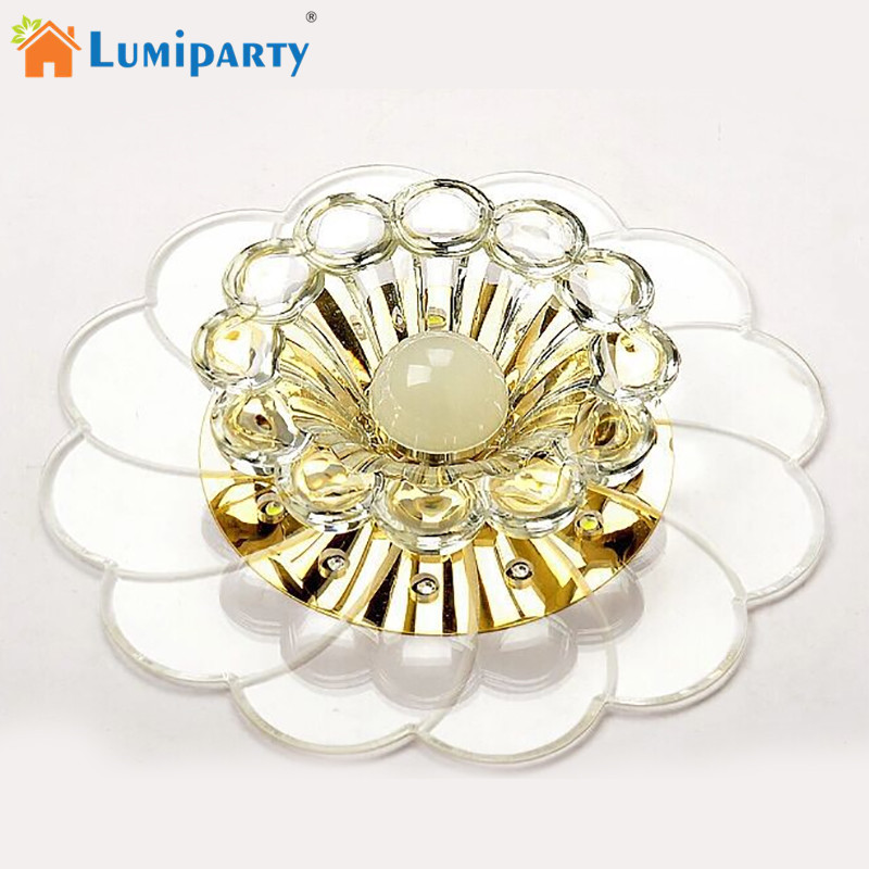 Jinko Led 5w Integrated Ceiling Lamp Bedroom Kitchen: LumiParty Luxurious Crystal Chandelier LED Ceiling Lamp