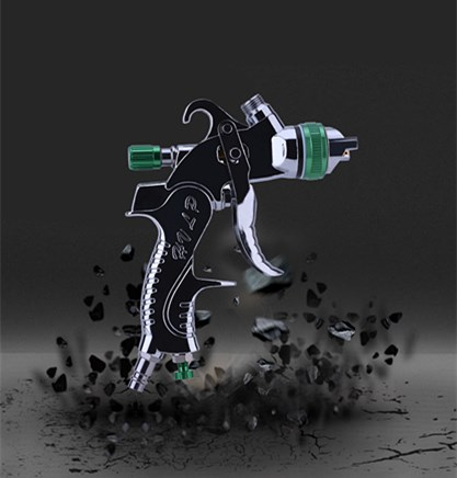 Image 4 - Mini HVLP Air Paint Spray Gun 1.4mm 1.7mm 2.0mm nozzles Car Repair Gun Detail Touch Up Paint Sprayer-in Spray Guns from Tools on