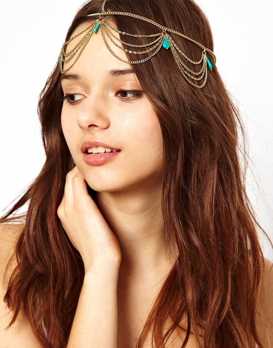 Hair accessories for wedding online india - Hair Accessories Bohemian Turquoise Tassel Hairband Hoop Headdress Forehead Jewelry Women Girls Wedding Bridal Hairpins