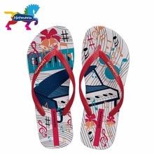 Фотография 2017 Hotmarzz Women Fashion Summer Slippers Piano Print Beach Flip Flops Home Flat Sandals Ladies House Shoes