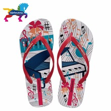 2017 Hotmarzz Women Fashion Summer Slippers Piano Print Beach Flip Flops Home Flat Sandals Ladies House Shoes