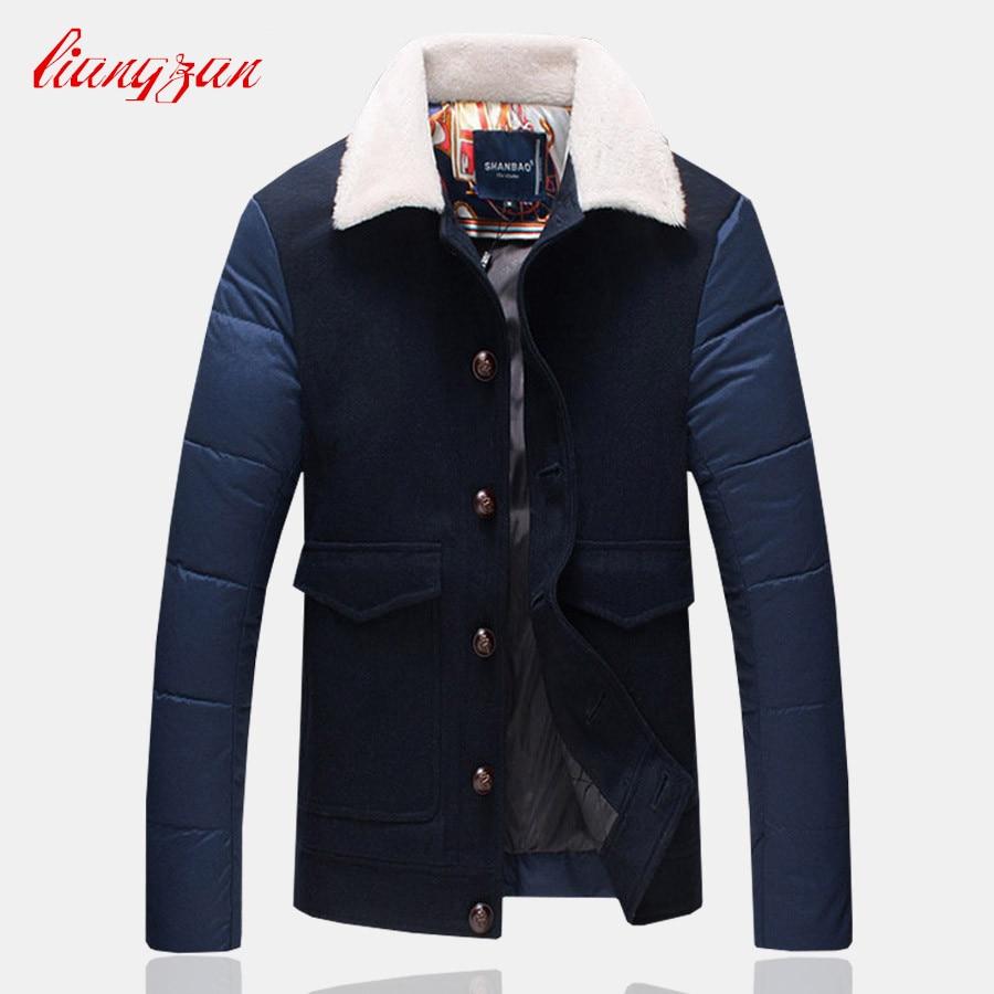 Men White Duck   Down     Coats   Winter Snow Warm Thick Overcoats Brand Design Male Slim Fit Casual Plus Size 4XL 5XL Parkas SL-K158