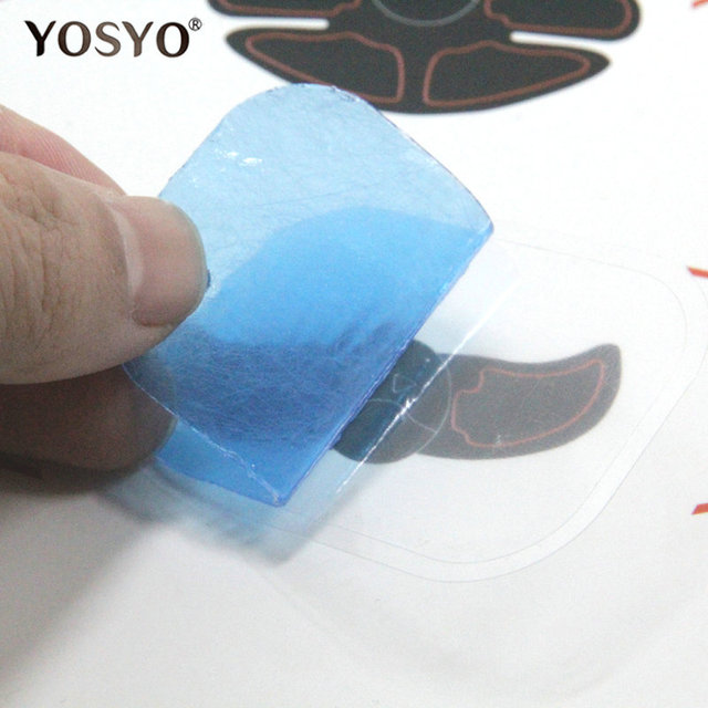 2pcs(1 pair)Replacement gel pads Muscle Trainer Replacement Massager Gel Sheet Muscle Stimulator Exerciser Pad Accessories 4