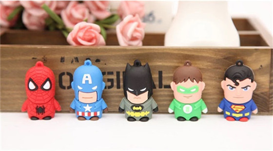 USB stick 100% real capacityJustice League Hero wholesale real 4G/8G/16G USB 2.0 usb flash drive Pen Drive Disk Flash Memory S23