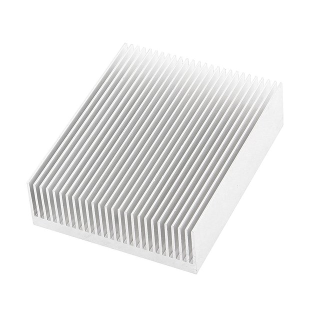 Silver Tone Aluminium Radiator Heatsink Heat Sink 150x80x27mm