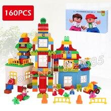 160 pcs Meu Primeiro Deluxe Caixa de Diversão Grande Parque de Diversões Castelo Modelo de Blocos de Construção de Brinquedo Tijolos Compatível Com Lego duplo