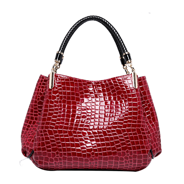 Designer Brand Bags Women PU Leather Luxury Ladies Hand Bags - Crocodile Leather Shoulder Bags 2